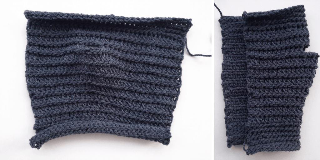 Crochet Fingerless Gloves - step 3