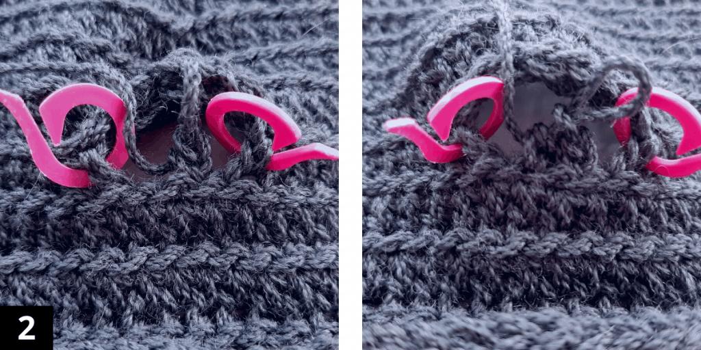 Crochet Fingerless Gloves - Thumb - step 2