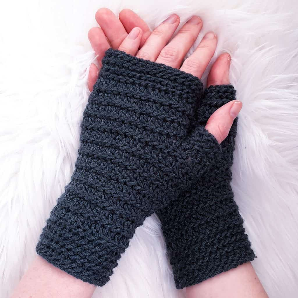 Crochet Fingerless Gloves / Ned and Mimi