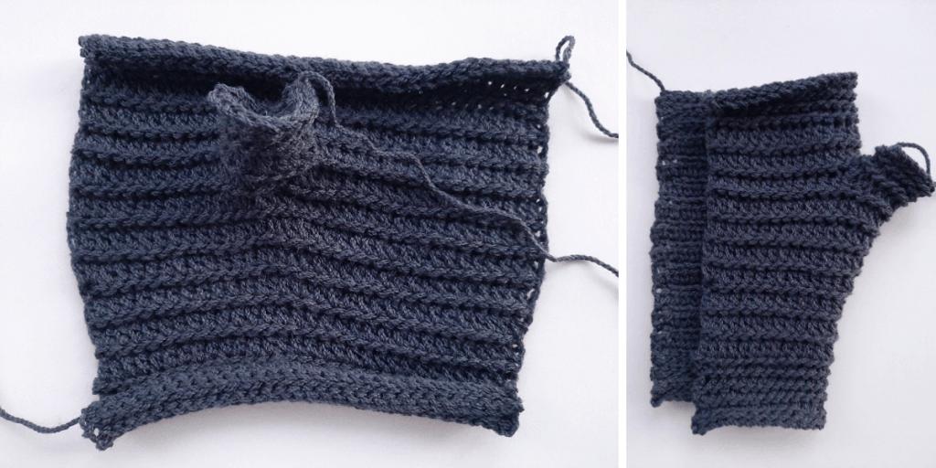 Crochet Fingerless Gloves - step 4