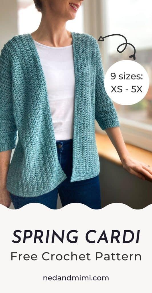 Simple Crochet Cardigan / Ned & Mimi