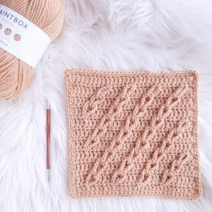 Lasting Links Crochet Blanket Square