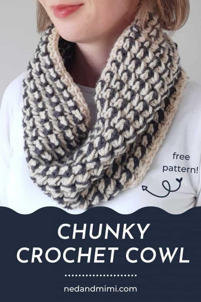Trinity Stitch Crochet Cowl