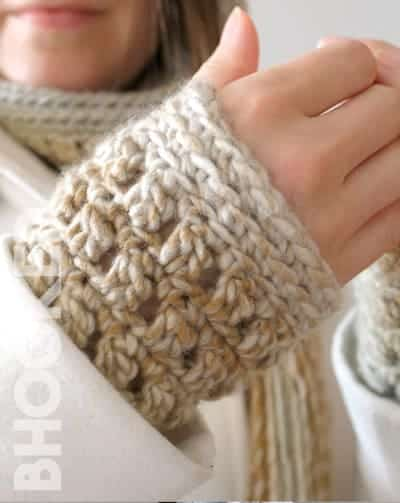 Colorscape Crochet Wrist Warmers by Brittany @ BHooked Crochet