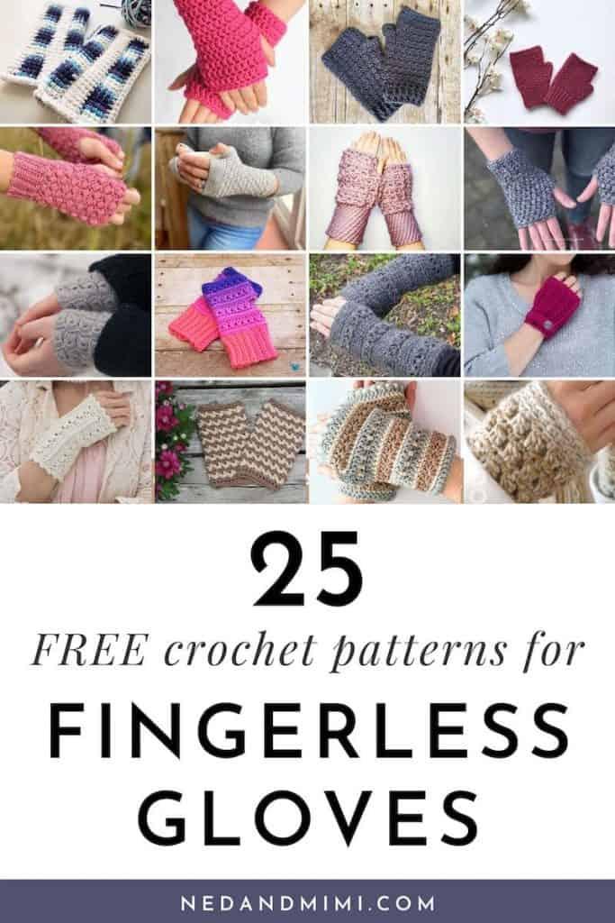 25 Crochet Fingerless Gloves Free Patterns