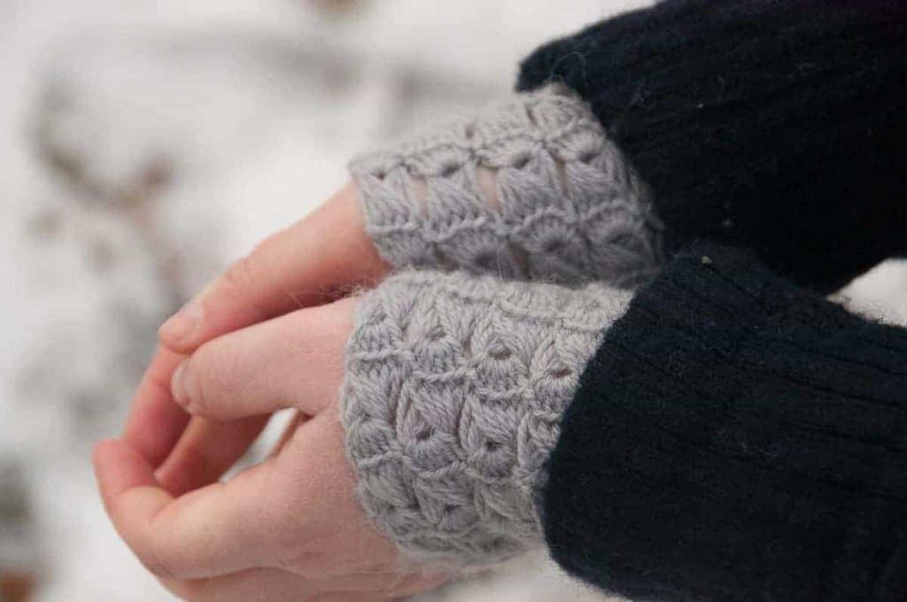 Delicatus Wrist Warmers by Janne @ Joy of Motion Crochet