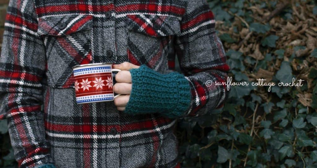 Men's Wrist Warmers by Helen @ Sunflower Cottage Crochet