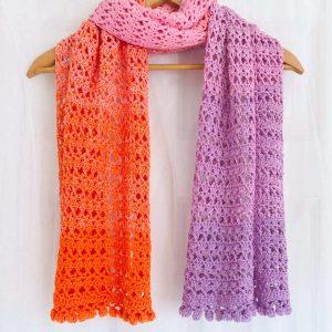 Summer Sunset Shawl - Crochet Shawl Free Pattern - Ned and MImi