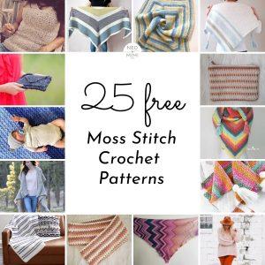 Moss Stitch Crochet Patterns
