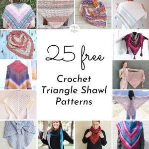 25 Free Crochet Triangle Shawl Patterns
