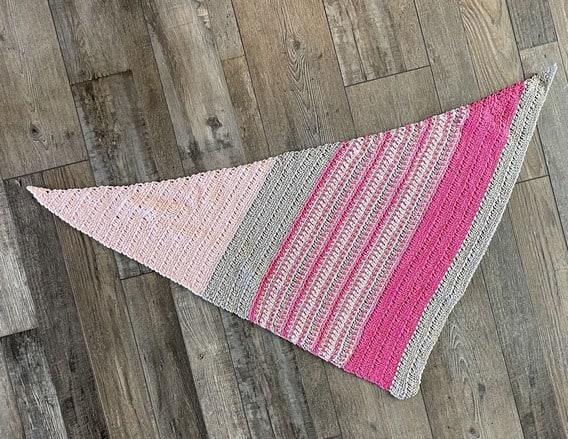 Autumn Asymmetrical Crochet Shawl Free Pattern